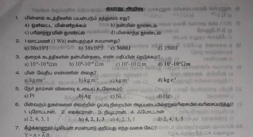 TNPSC General Knowledge Model Question