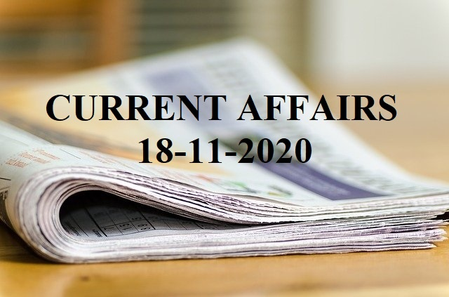 TNPSC Current Affairs 18-11-2020